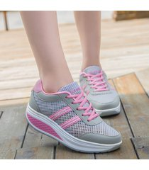 adelgazar zapatillas mujer plataforma cuña zapatillas deportivas ligeras