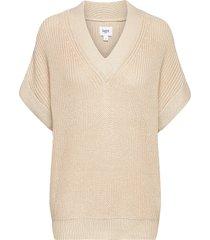 caiasz vest vests knitted vests crème saint tropez