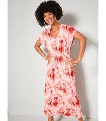maxi-jurk angel of style pink::vanille::koraal