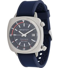 briston watches clubmaster diver brushed watch - blue