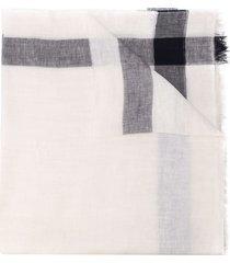 malo fringed linen scarf - white