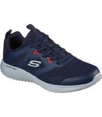 zapatilla azul bounder high degree skechers