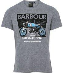 barbour t-shirt grijs gemêleerd