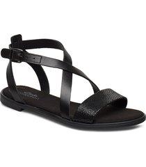 bay rosie shoes summer shoes flat sandals svart clarks