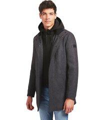 abrigo urban hibryd coat gris guess