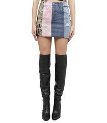 dolce & gabbana hybrid denim skirt