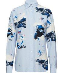 o1. mountain skier shirt overhemd met lange mouwen blauw gant