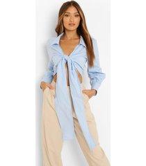 blouse met strik, sky blue