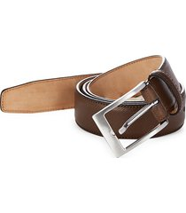 saks fifth avenue made in italy men's saffiano leather belt - brown - size 38