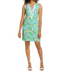 women's lilly pulitzer harper shift dress, size small - green