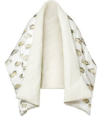 burberry oyster print puffer scarf - white