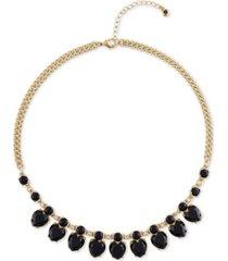 "rachel rachel roy gold-tone crystal heart collar necklace, 16-1/2"" + 2"" extender"