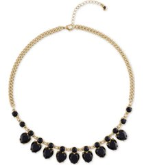 "rachel rachel roy gold-tone crystal heart collar necklace, 16-1/2"" + 2"" extender"