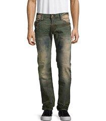 mini-flap zip pocket jeans