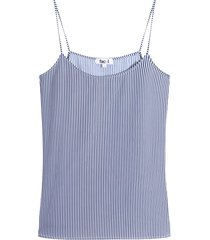 blusa a rayas m/s color azul, talla s
