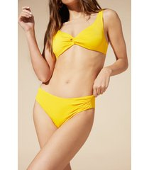 calzedonia indonesia high-waisted bikini bottoms woman yellow size 3