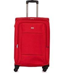 maleta de viaje mediana en lona con cuatro ruedas giratorias 93174