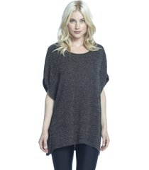 hamilton oversized short sleeve sweater - s black sprinkles