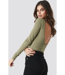 na-kd basic deep back body - green