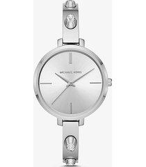 mk orologio jaryn tonalità argento con borchie  - argento (argento) - michael kors