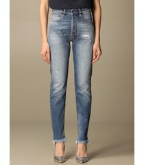 cycle jeans cycle skinny jeans in denim with rips