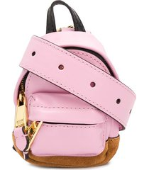 moschino micro sporty lettering backpack - pink