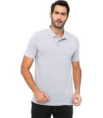 camisa polo forum reta lisa cinza - cinza - masculino - algodã£o - dafiti