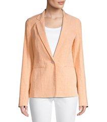 lafayette 148 new york women's lyndon stretch-linen blazer - creamsicle - size 8