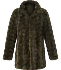 jas met staande kraag en steekzakken van anna aura groen