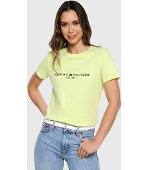 camiseta amarillo-azul tommy hilfiger
