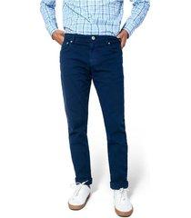 pantalón cleverlander stretch color siete para hombre - azul