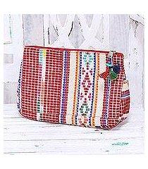 cotton cosmetic bag, 'colorful india' (india)