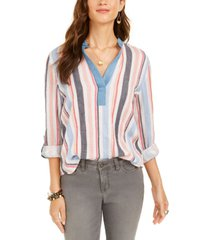 style & co petite striped top