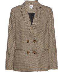 u4054, woven blazer l/s blazer colbert bruin saint tropez