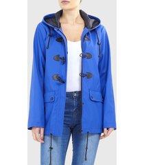 chaqueta brave soul azul - calce regular