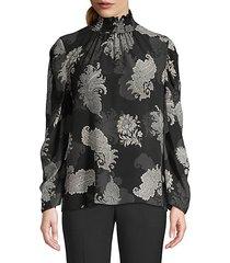 arielle printed highneck blouse