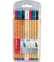 stabilo point 88 pen colorkilla wallet set, 10 pieces