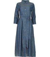 katoenen denim jurk nicole  blauw