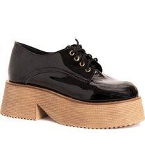zapato  negro tres corazones  505