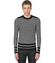 antony morato sweater rond collar stripes black 9000
