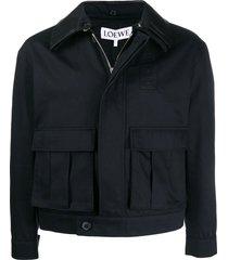 navy patch pocket jacket