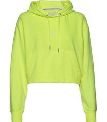 puff print cropped hoodie hoodie gul calvin klein jeans