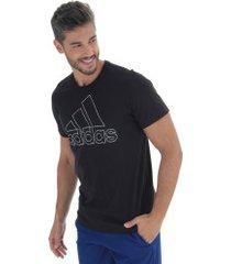camiseta adidas bos id - masculina - preto