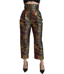 high waist cropped broek