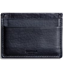 men's shinola leather card case - blue