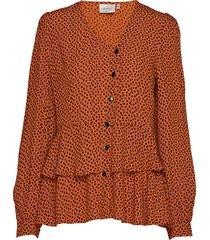 spotiagz blouse ma19 blouse lange mouwen oranje gestuz