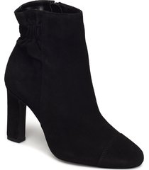 dress effect boot shoes boots ankle boots ankle boots with heel zwart bianco
