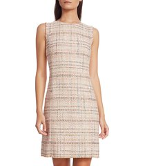 akris punto women's sleeveless tweed shift dress - cream - size 12