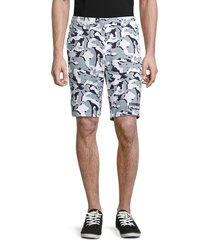 puma men's camo-print shorts - white - size s