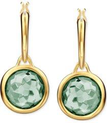 swarovski crystal bezel drop earrings